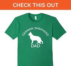 Mens German Shepherd Dad T-Shirt XL Kelly Green - Relatives and family shirts (*Amazon Partner-Link)
