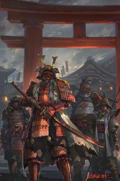 Fan art samurai by mr. Arte Ninja, Ninja Kunst, Ninja Art, For Honor Samurai, For Honor Viking, Ronin Samurai, Samurai Warrior, Samurai Anime, Japanese Drawing