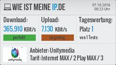 Mein DSL-Speedtest #dsl #speedtest