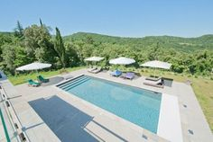 Renovated country home swimming pool in Languedoc Roussillon, France. Available for self catering holiday rental, sleeps 12. www.purefrance.com