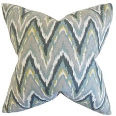 The Pillow Collection Matisse Zigzag Cotton Throw Pillow Cover Color: Mineral