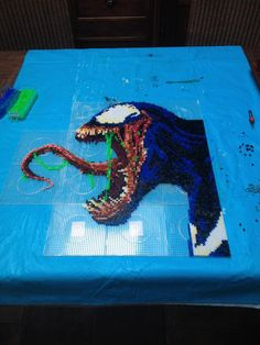 Here's my venom beadsprite i made to come with my carnage!