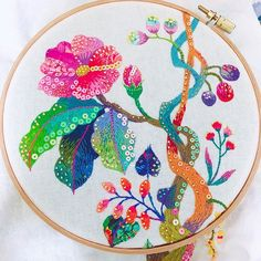 @kimikahara • Instagram写真と動画 Embroidery Designs, Modern Embroidery, Embroidery Art, Embroidery Stitches, Textiles, Arts And Crafts, Photo And Video, Halloween, Sewing