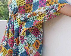Kaftan, Caftan, cotton caftan, cotton kaftan, Summer dress. kaftan maxi dress, long caftan, maxi dress batik robe women's clothing