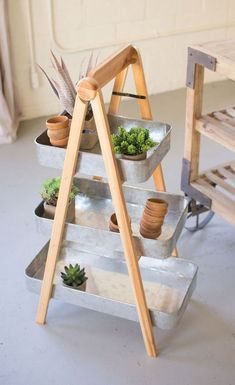 Cute Idea - this 3 tier tray works perfectly for plants!