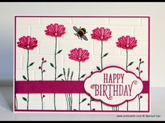 No.282 - Daisy Delight & Brick Wall - JanB UK Stampin' Up! Demonstrator Independent - YouTube