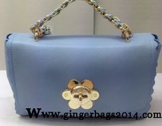 Latest Mulberry Fall 2014/Mulberry Cecily with Flower lock shoulder bag Baby blue