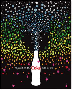 I love Coca-cola but I can't drink it as much as I like anymore. How nice is this poster done by Non-Format. Coca Cola Poster, Coca Cola Ad, Always Coca Cola, World Of Coca Cola, Coca Cola Bottles, Pepsi, Print Ads, Poster Prints, Coke Ad