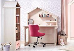 Παιδικό Γραφείο Pink House 2172 Pink Houses, Kids Room Design, Kids Rooms, Loft, Nursery, Baby, Furniture, Home Decor, Decoration Home
