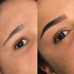 Mircoblading Eyebrows, Arched Eyebrows, Natural Eyebrows, Mini Face Lift, Perfect Eyebrow Shape, Permanent Eyeliner, Shading Techniques, Acrylic Nails Coffin Short, Brow Color