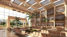 Our design .. Tripoli public records main hall interior .. MCUBE Architects .. Modern islamic design
