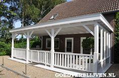 Klassieke houten terrasoverkapping doet uw woning vergroten!