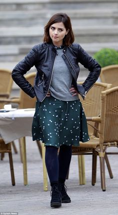 Overseas shoot: Jenna Coleman was spotted filming in Tenerife for the forthcoming series o...