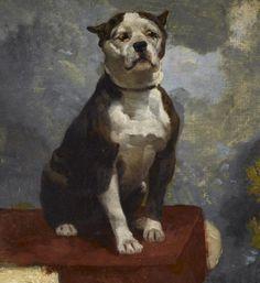 1867 Boxer/Bullenbeisser dog by Anton Diffenbach