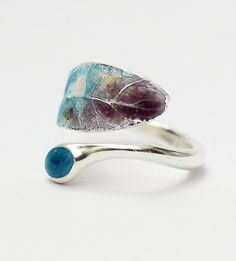 Enamel and silver leaf ring. 10 Offbeat Engagement Rings For A Valentine's Day Proposal