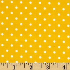 Robert Kaufman Cozy Cotton Flannel Small Dot Yellow from @fabricdotcom  Designed by Studio RK for Robert Kaufman, this double-napped (brushed on both sides) flannel is perfect for quilting, apparel and home decor accents.
