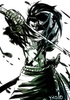 [ -N◎N- ] - Yasuo League Of Legends Yasuo, Lol League Of Legends, Legend Drawing, Burberry Wallpaper, Epic Art, Medieval Armor, Beautiful Drawings, Game Character, Face Art