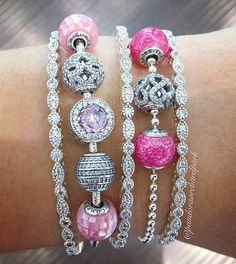 Great idea for stacking Essence bracelets with Timeless Elegance bangles.
