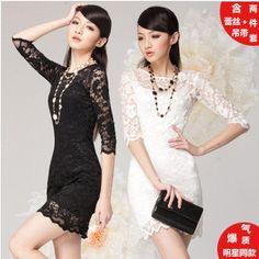 Fashion New Lace Dress Base Skirt Waist Lace Dress for Women