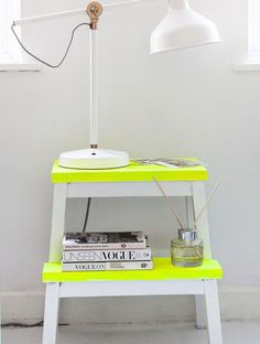 38 neon painted ikea step stool