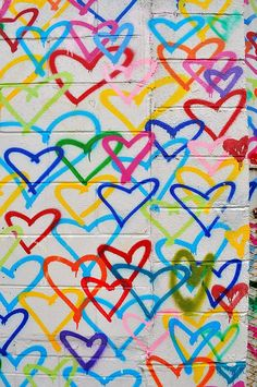 Adamthegirl: colorful hearts, washington, dc -You can find Outdoors and more on our website. Chaotic Neutral, Heart Wall, Artsy Fartsy, Rainbow, Quilts, Washington Dc, Hearts, Heart Graffiti, Colorful