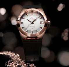 Omega Constellation Sedna Gold, introduced last year at Baselworld, is a classically elegant and sporty watch with all the appealing . Omega Constellation, Cartier, Best Valentine's Day Gifts, Watches Photography, Fine Watches, Women's Watches, Latest Watches, Dream Watches, Pocket Watches