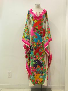Beautiful Hand Embroidered Mexican Dress from the by NativaShop, $1995.00