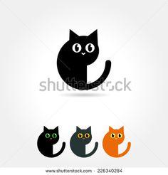 cat icon - stock vector