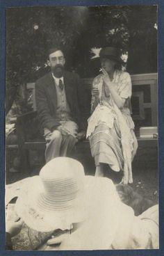 Lytton Strachey; Virginia Woolf by Lady Ottoline Morrell, vintage snapshot print, June 1923 © National Portrait Gallery, London.