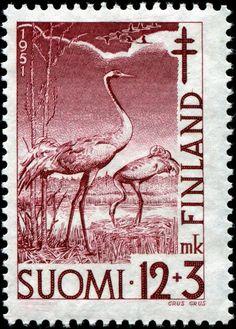 "Finland 12mk+3mk 1951 ""Grus Grus"""