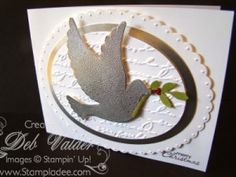 Calm Christmas with Deb Valder and Stampin' Up! by djlab - Cards and Paper Crafts at Splitcoaststampers Create Christmas Cards, Stamped Christmas Cards, Simple Christmas Cards, Beautiful Christmas Cards, Christmas Paper Crafts, Homemade Christmas Cards, Xmas Cards, Handmade Christmas, Holiday Cards