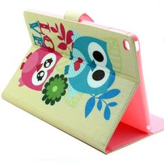 For+iPad+Air+2/iPad+6+Owl+Pattern+Horizontal+Flip+Smart+Cover+with+Holder,+Card+Slots+&+Wallet