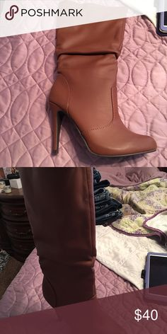 Boots. NWOT comes in box They go to the knee very soft materiel Shoes Heeled Boots