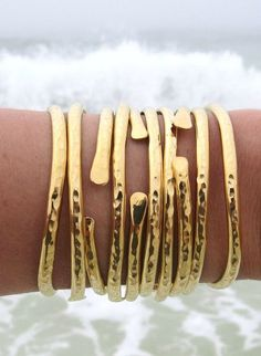 GYPSEA Brass Cuff Bangle Set | Bangles | Bella Beach Jewels
