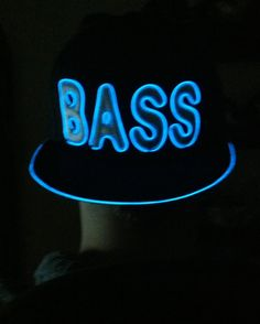 edaa49a3d44 Light Up BASS Hat by ElectricStyles on Etsy