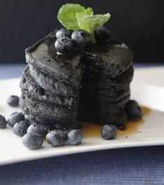 Pancakes au charbon