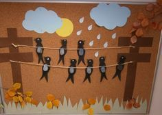 Paper cut autumn - New Deko Sites Bird Crafts, Diy And Crafts, Crafts For Kids, Arts And Crafts, Paper Crafts, Autumn Crafts, Autumn Art, Spring Crafts, Art N Craft