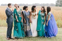 Your crew doesn't have to match clothes  or gender to look good.   Indian Wedding with Southern Style « Southern Weddings Magazine
