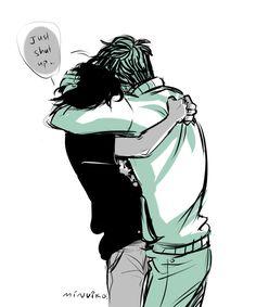 Perico/ Percico (Percy x Nico) hug comic part 4/4 Artist: Minuiko Awn, Nico why r u such a cute tsundere~(=゚ω゚)ノ