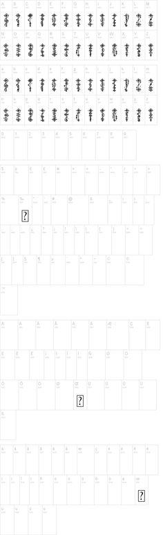 Vulcan alphabet font. Tattoo AHOY!