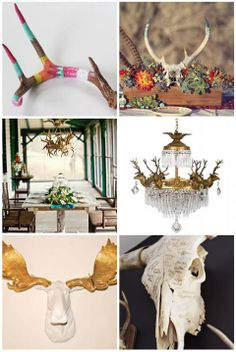 Antler Wedding Ideas / The Hunt Is Over on http://itsabrideslife.com