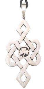 Shamrock Celtic Pewter Necklace - Shamrock Necklaces: Gifts for St. Patrick's Day