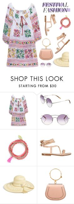 """""""Good Vibes Only: Festival Fashion"""" by slavicabojanovic ❤ liked on Polyvore featuring Juliet Dunn, Oliver Peoples, Feather & Stone, Capri Positano, Rip Curl and festivalfashion"""