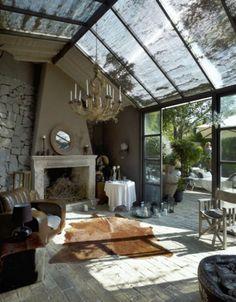 mooi idee voor dak van overdekt deel van het terras;