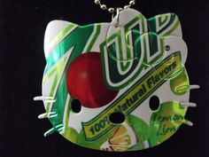 Diet 7up Hello Kitty Necklace Recycled Soda Can Art - Other