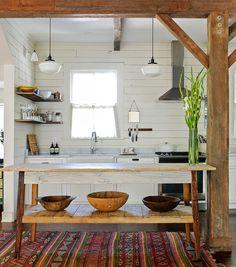 kitchen decoration – Home Decorating Ideas Kitchen and room Designs Boho Kitchen, Rustic Kitchen, Kitchen Decor, Kitchen Design, Neutral Kitchen, Beach Cottage Style, Beach Cottage Decor, Modern Cottage Decor, Minimalist Cottage Decor
