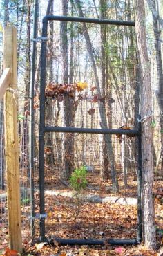 Make your own deer fence gates from pvc plumbing pipes