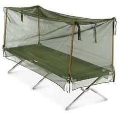 febce248a3320 U.S. Military Surplus Cot Size Mosquito Netting, Olive Drab Us Military  Surplus, Military Issue