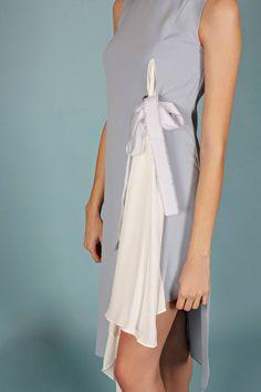 VESTIDO SABRINA | Teria Yabar Primavera Verano 2020 One Shoulder, Shoulder Dress, Dresses, Fashion, Vestidos, Crew Neck, Spring Summer, Sleeves, Moda