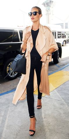 Celebrity-Inspired Outfits to Wear on a Plane - Rosie Huntington-Whiteley from InStyle.com